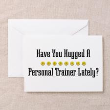 Hugged Personal Trainer Greeting Cards (Package of for