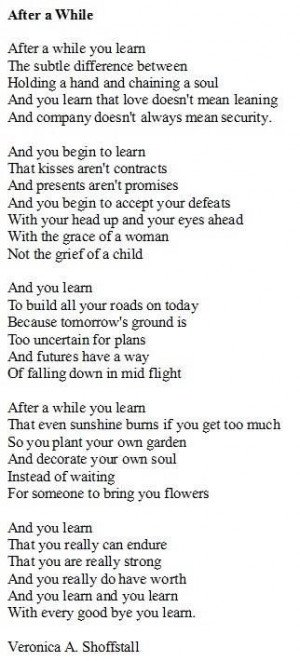 love this. The first time I had my heart broken my Mom gave me an ...