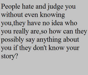 Quotes About Judgemental...