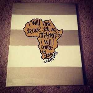 john 14:18 africa orphans bible verse painting