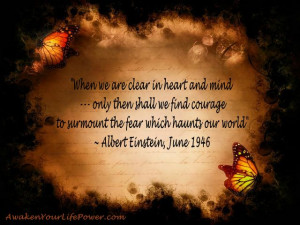 When Clear In The Mind & Heart