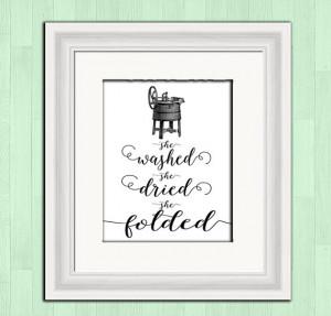 Printable art, laundry room print, funny quote, retro art, wall decor ...