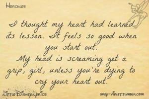 quotes disney lyrics hercules megara i won t say i m in love life love ...