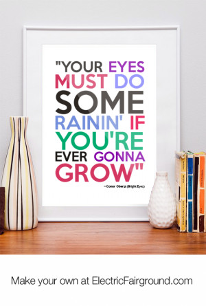Conor Oberst (Bright Eyes) Framed Quote