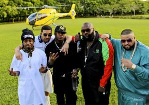 ... Of DJ Khaled, Lil Wayne, Drake & Rick Ross No New Friends Video Shoot
