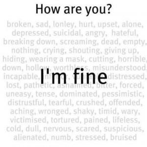 Im fine...