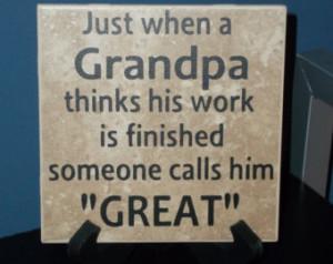 Great Grandparents Quotes Great-grandpa decorative tile