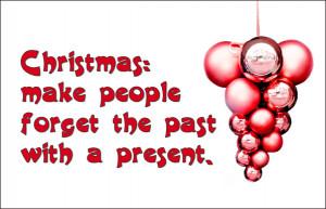Red sarcastic Christmas card with red Christmas balls: Christmas: Make ...