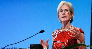 Kathleen Sebelius speaks on May 15, 2012. | AP Photo