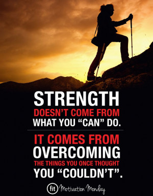 Fitness quotes & inspiration - STRENGTH.