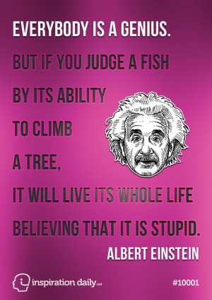 Home — Quotes — Einstein fish quote poster