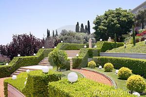Terraços dos jardins de Bahai. Israel Imagens de Stock Royalty Free