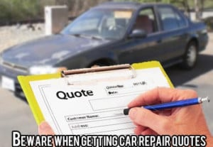 How to get a car repair quote and be sure it is done right