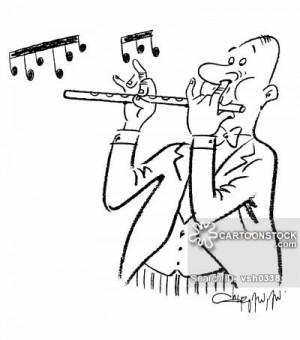 Flute Player cartoons, Flute Player cartoon, funny, Flute Player ...
