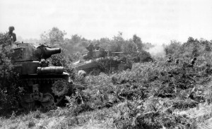 quote allied tanks on the move near barenton france quote