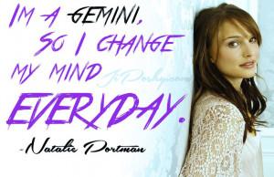 JiPoshy: ARE GEMINI'S COMPULSIVE LIARS? Natalie Portman #Quotes