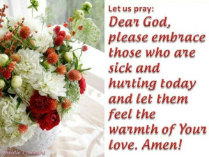 Prayer for sick and hurting people