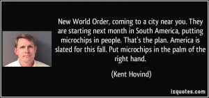 New World Order, coming to a city near you. They are starting next ...