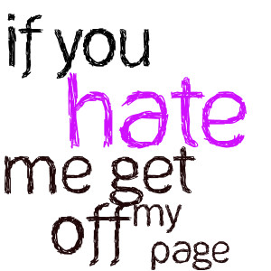 This is kindly for my haters :)