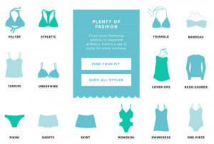 Let's start off with the types of swimwear available in the women ...