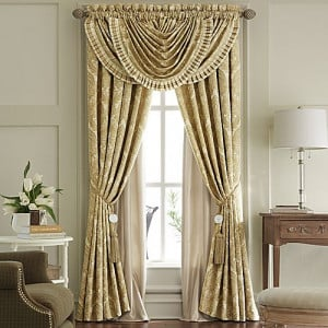 Waterfall Valance with Drapes