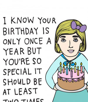 16. Birthday Card - I Know Your Birthday Is Only Once A Year But You ...