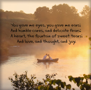 Love Quotes In The Background Of cute Couple In boat on The Beautiful ...