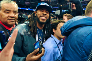 ... Sherman Making the Most of Super Bowl Spotlight, Media Day Insanity