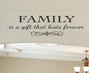 Wall-Decal-Quote-Sticker-Vinyl-Art-Lettering-Removable-Family-is-a ...