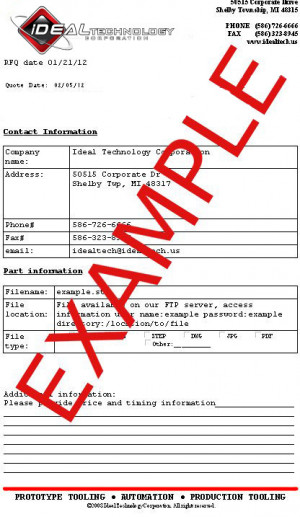 Example of request for quotation