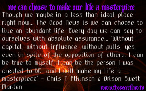 Inspirational Motivational Snippet Quote by Chris T Atkinson