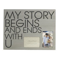 - Melannco 'My Story Begins and Ends With U' 18-inch x 14-inch Wall ...
