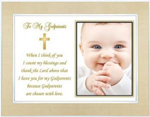Gift for Godparent from Godchild on Baptism or Christening Day ...