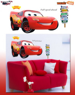 Giant Pixar Cars Lightning Mcqueen Wall Stickers Huge(44