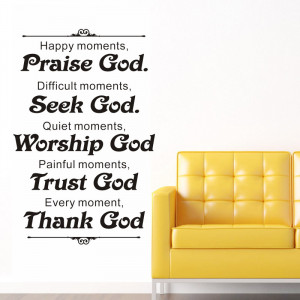 86x56cm wall decal 2013 new arrival vinyl thank god home quotes ...