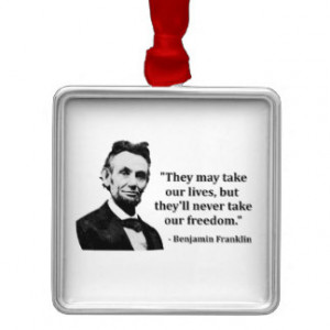 Abraham Lincoln Troll Quote Square Metal Christmas Ornament