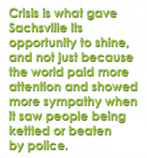 ... more sympathy when it saw people being kettled or beaten by police