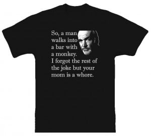 Celebrity Jeopardy Sean Connery Funny T Shirt