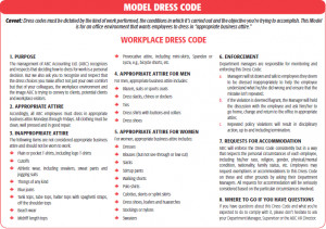 Dress Codes & Personal Grooming Policies-How Far Can They Go?