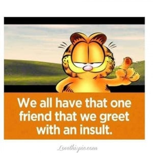 that one friend funny quotes friendship quote cartoons friend garfield ...