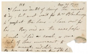 Mary Wollstonecraft's last three notes to Godwin