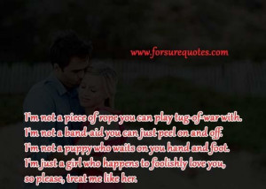 Memorable quotes i am not a puppy who wait on you hand and foot