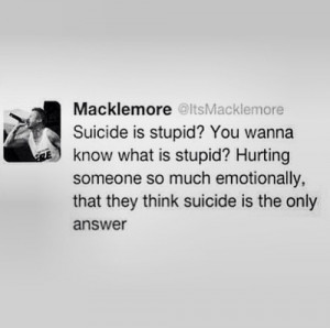 ... sad suicide lonely music rap quotes hurt freedom stupid Macklemore