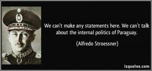 We can't make any statements here. We can't talk about the internal ...