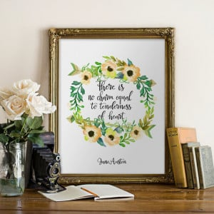 Printable Jane Austen quote, Wall art, Home decor, INSTANT DOWNLOAD ...