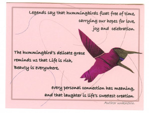 Hummingbird Poems. Inspirational Christmas Messages Sample Messages ...