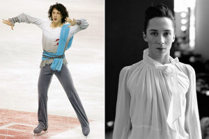 above from left johnny weir photos via sundance blackbook