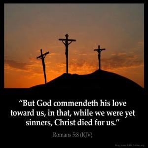 Romans 5:8 Inspirational Image