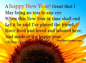 happy New Year! May bring no tear … (New Year Quotes)