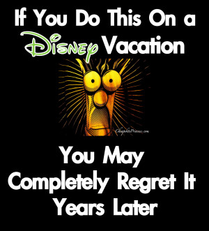 Back To Work After Vacation Quotes Disney vacation regret